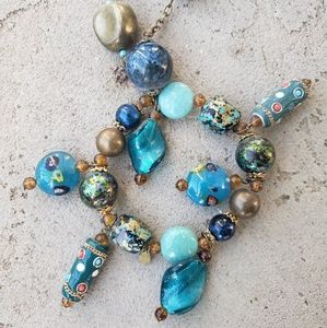 """♡ 19"""" {multi} shade of blue necklace"""